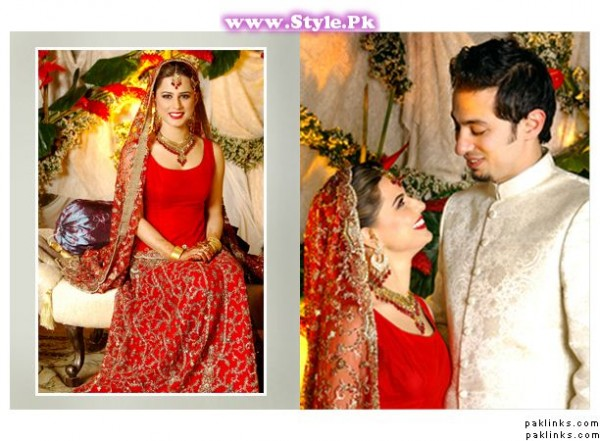 Top 8 Pakistani Celebrities who wore red color on their wedding day (5)