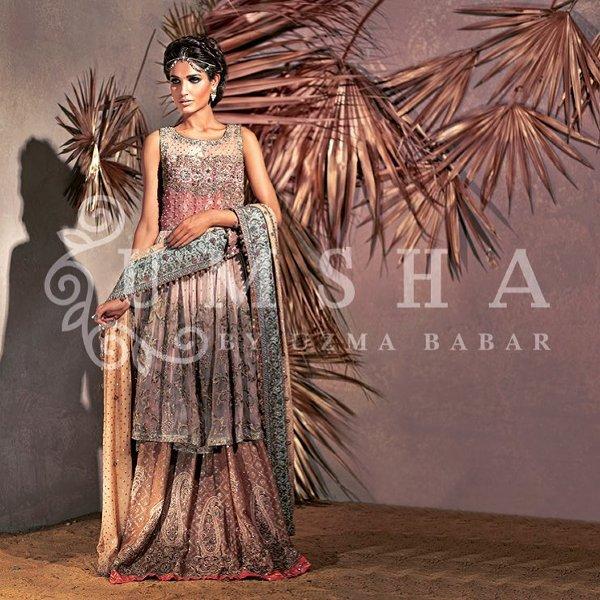 Umsha By Uzma Babar Bridal Wear Collection 2015 For Women001