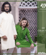 Yellow Eid-Ul-Fitr Collection 2015 For Men and Women 2