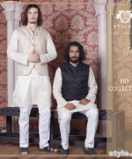 Yellow Eid-Ul-Fitr Collection 2015 For Men and Women 3