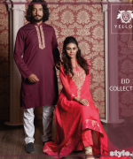 Yellow Eid-Ul-Fitr Collection 2015 For Men and Women 4