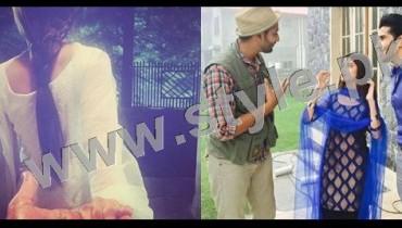 See Clicks of Sajal Ali and Feroze Khan during shooting of drama Gul-e-Rana