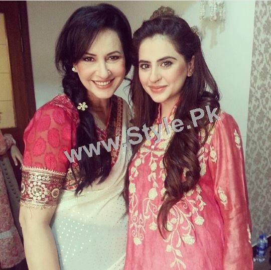 Fatima Effendi and Kanwar Arsalan are appearing as couple in a TVC (5)