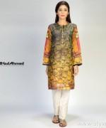Gul Ahmed Digital Kurti Designs 2015 For Girls 1