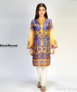 Gul Ahmed Digital Kurti Designs 2015 For Girls 2