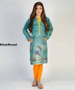 Gul Ahmed Digital Kurti Designs 2015 For Girls 4