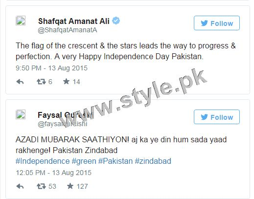 How Pakistani Celebrities wished Nation Happy Independence Day (8)