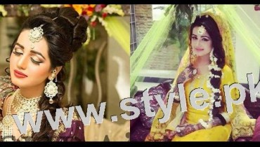 Latest looks of Anum Fayyaz for Bushra's Salon 10