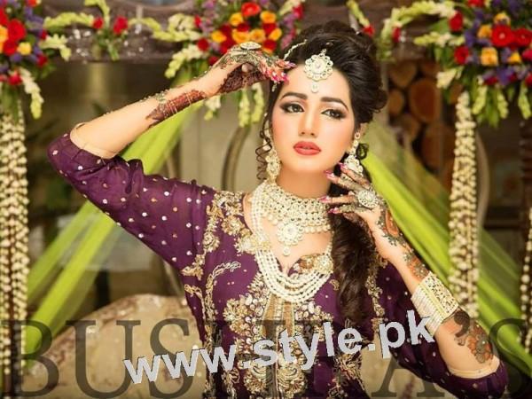 Latest looks of Anum Fayyaz for Bushra's Salon 9