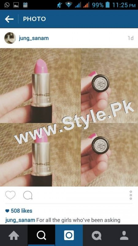 SEe Lipstick Details of Sanam Jung