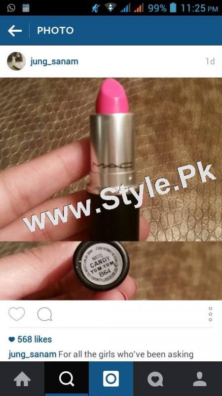Lipstick Details of Sanam Jung (2)
