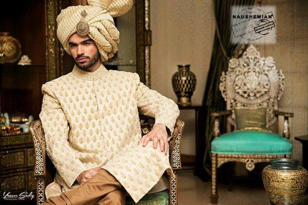 Naushemian By Nauman Arfeen Sherwani Collection 2015 For Men