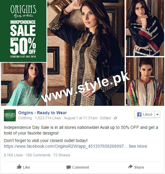 Promotional offers by Clothing brands on Independence Day, 2015 3