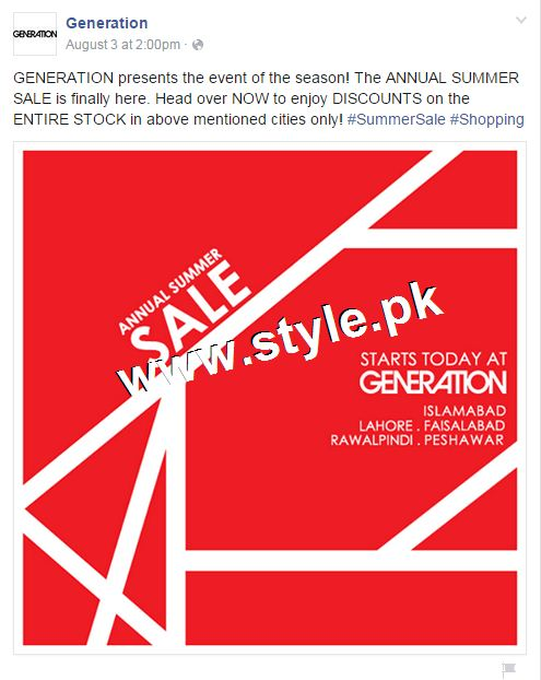 Promotional offers by Clothing brands on Independence Day, 2015 6