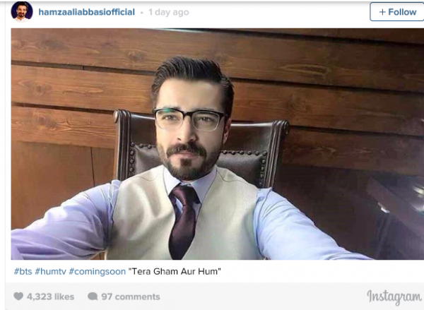 See Hamza Ali Abbasi is back to TV in Tera Ghum or HUM