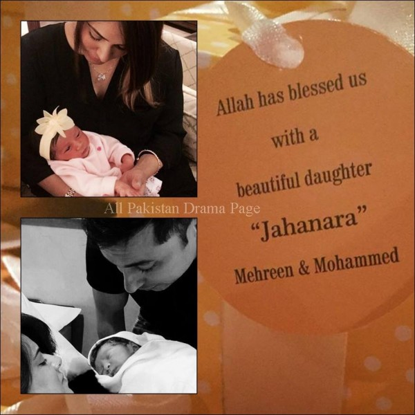 See Mehreen Raheel is blessed with a baby girl