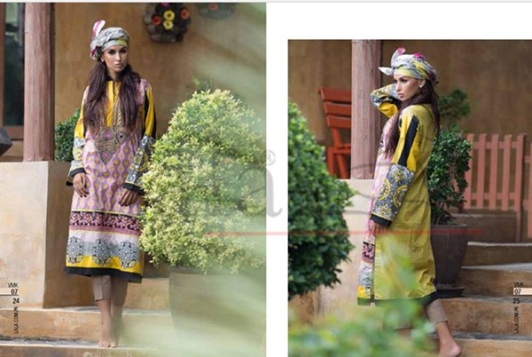 Lala Textiles Semi Stitched Collection 2015 For Women996
