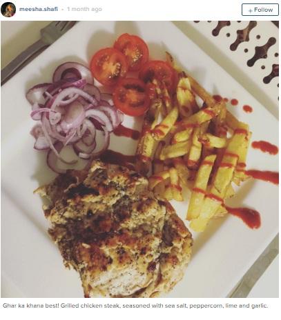 Meesha shafi food