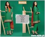 Warda Winter Dresses 2015 For Women 1