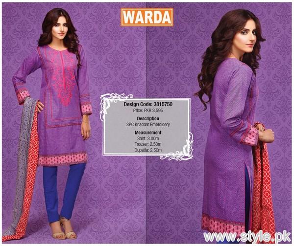Warda Winter Dresses 2015 For Women 6