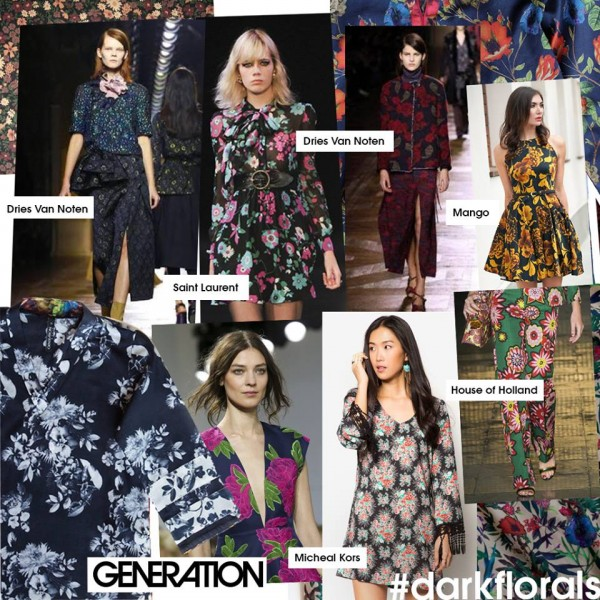 dark floral prints 2015