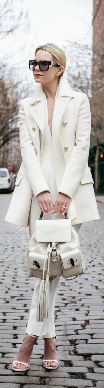 How to Manage White Dresses in Winter- overall white