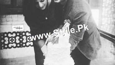 See Pictures of 10th Aniversary of Fawad Khan and his wife