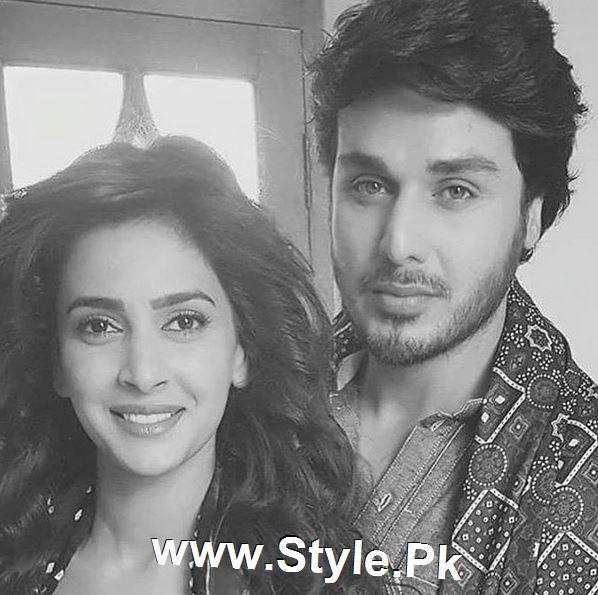 Pictures of Ahsan Khan and Saba Qamar on the set of Muhabbat ki Akhri Kahan (2)