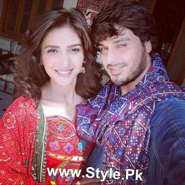 Pictures of Ahsan Khan and Saba Qamar on the set of Muhabbat ki Akhri Kahan (4)