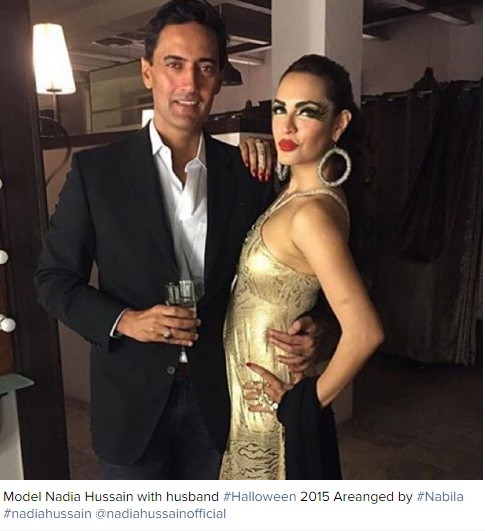 model nadia hussain with husband
