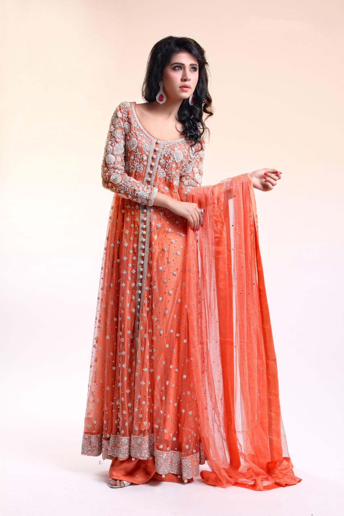 Orange Wedding Dress For Girls 2016