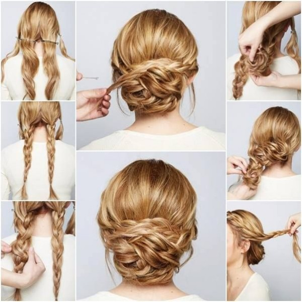 Chic Braided Chignon Hairstyle
