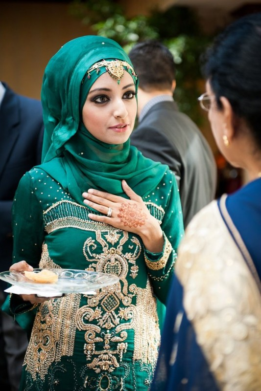 Formal Hijab Styles 2016-green