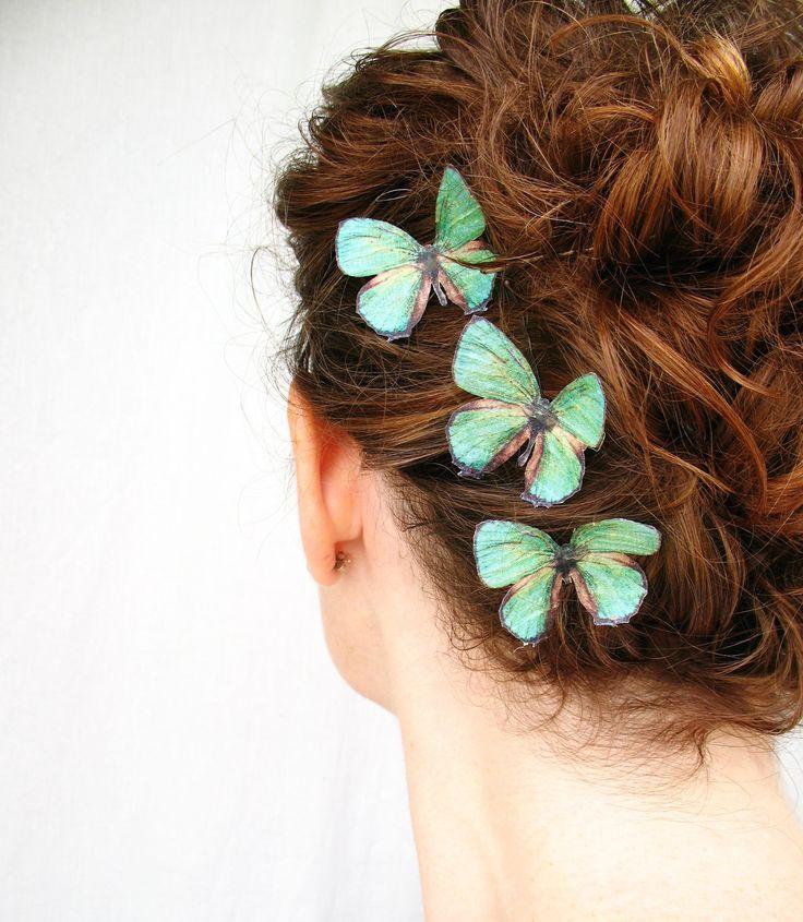 Бабочки для волос