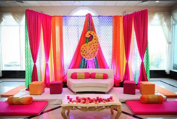Mehndi Ceremony Decoration : Mehndi decoration ideas