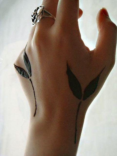 Mehndi Tattoo 2016 for girls-leaves