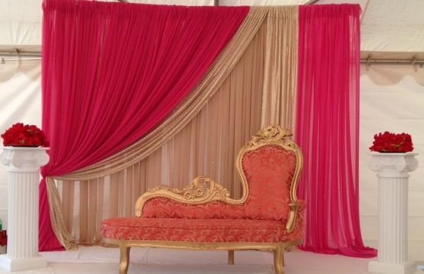 Wedding  Stage Decoration Ideas 2016-pink white