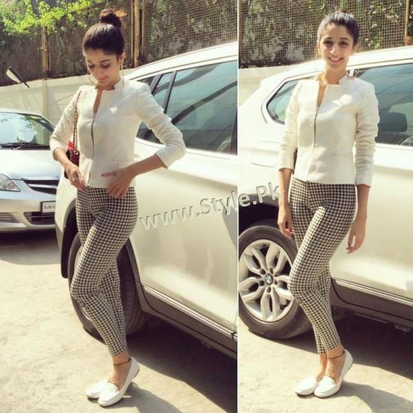 Fashion Diva Mawra Hocane during promotions of Sanam Teri Kasam (2)
