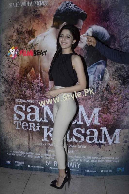 Fashion Diva Mawra Hocane during promotions of Sanam Teri Kasam (5)