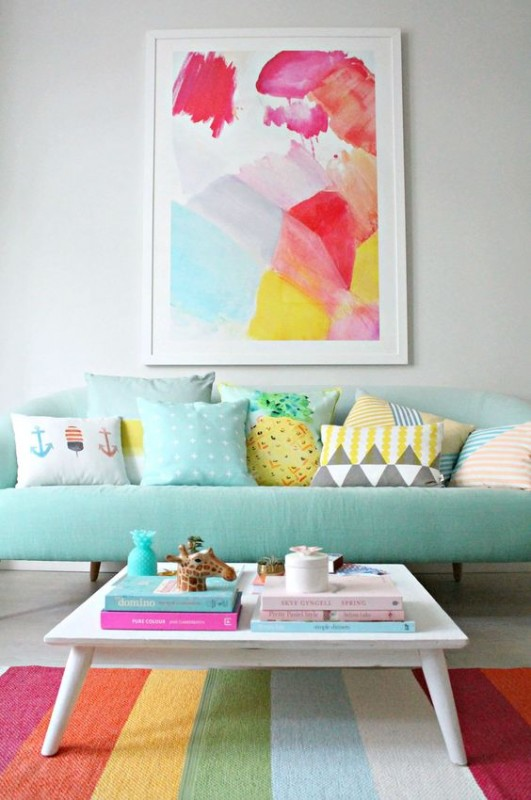 Add colors in your Living room.colors