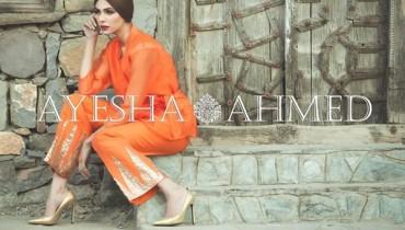 Ayesha Ahmed Silk Dresses 2016 For Women001