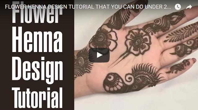Henna Design Video Tutorial