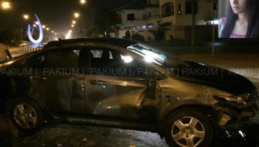 Maira Khan Car Accident