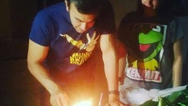 See Shaan Shahid celebrating his 45th Birthday