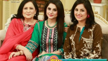 Fatima Effendi with her Sister and Mother in Morning Show Satrungi