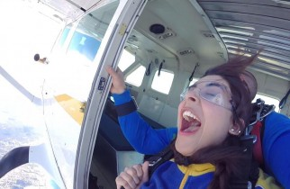 Urwa Hocane Skydiving