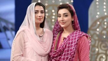 Ayeza Khan and Ayesha Khan in Ramadan Show