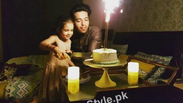 See Fahad Mustafa Celebrated his 33rd birthday with her daughter