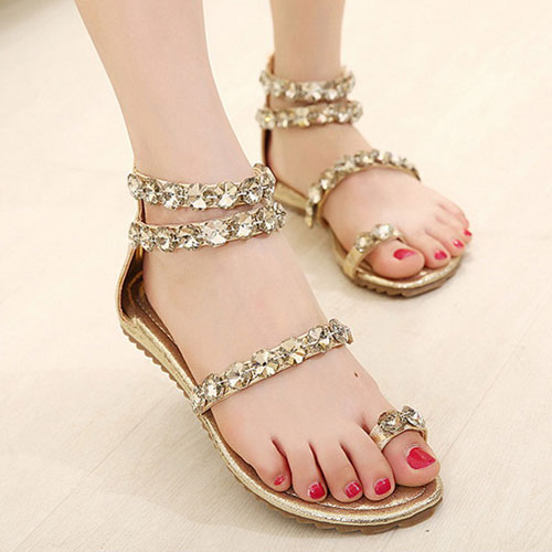 See Flat Sandals for Eid 2016