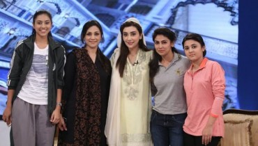 Pakistan Women Cricket Team in Ramzan Transmission (5)